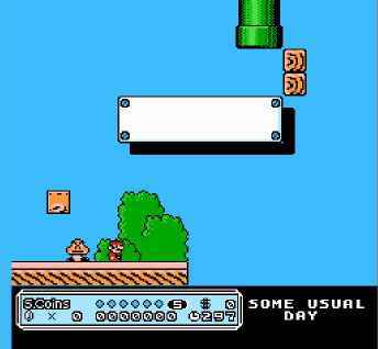 игра Mario in - Some Usual Day SMB3 PRG1 Hack